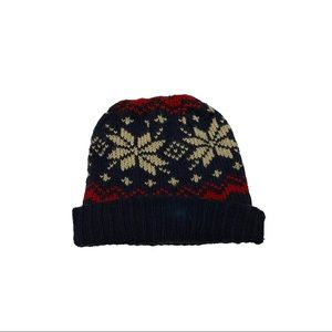 Snowflake Patterned Beanie